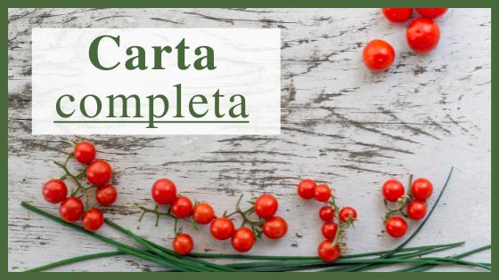 Carta completa LA RETAMA en Cantabria